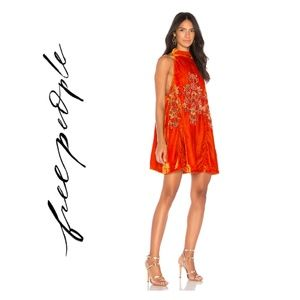 Free People S Velvet Sequin Swing Dress Orange Jil
